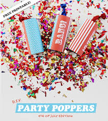 party poppers d i y party poppers 4th of july edition