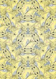 bird wrapping paper gift wrapping paper lemon and grey birds by prism of starlings