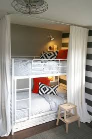 Cheap Bunk Bed Design by Bunk Beds With Curtain Surround Cheap Way To Give A Built In