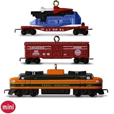 lionel 2533w great northern freight set of 3 mini ornaments