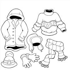 season winter vacation drawing coloring pages print color craft in