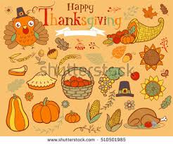 thanksgiving design elements poster greeting card stock vector