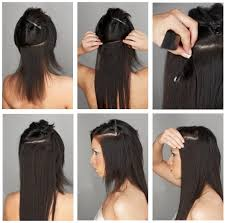 hair clip ins how to apply hair extensions hotstyle
