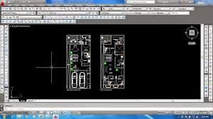 auto cad drawings 2d double story floor plan