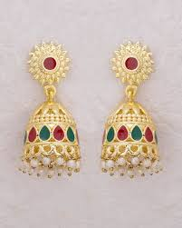 jhumki style earrings buy jhumki style earrings with lovely enamel details online india