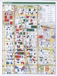 New York Manhattan Map Theater District Manhattan Map