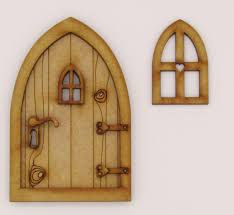 Keyhole Doorway Country Cottage Wooden 3d Fairy Door Craft Kit With Fairy Windows