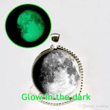 glow in the necklaces wholesale glow in the moon 3 4 moon pendant moon