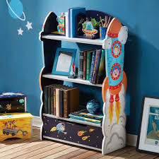 kids bookshelf fantasy fields wooden outer space childrens toy
