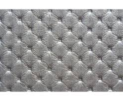 tissu canapé au mètre similicuir capitonné argent au mètre
