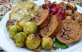 plate of thanksgiving food recipes for the ultimate vegan thanksgiving menu from meatless