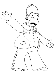 homer simpson coloring free printable coloring pages