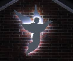 lighted christmas yard angels angel