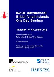 british virgin islands one day seminar insol international