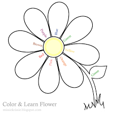 missie krissie tuesday freebies colour and learn flower for kids