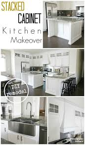 kitchen makeover with cabinets stacked cabinet kitchen makeover pneumatic addict