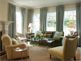 Cream Living Room by Decoration Window Treatment With Window Drapes And Green Color