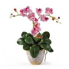triple mini phalaenopsis silk flower arrangement silk specialties