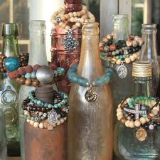 colored necklace display images Old bottles for bracelets for giving works artisan jewelry i do jpg
