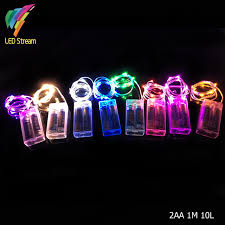 10 mini light string 2aa battery powered 1m 10 led silver color copper wire mini fairy