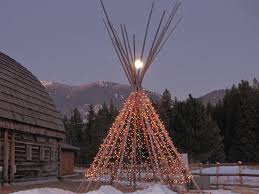 native american christmas tipi yule and skeletons