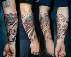 collection of 25 funky fish on lower arm