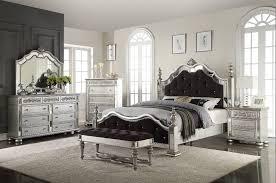 Silver Black Bedroom Silver Black Queen Bedroom Set 5 Piece Mega Mattress Llc