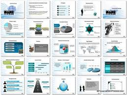 business concept presentation template free blue concept