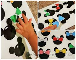 minnie mouse shape sorting printable kids snippets