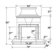 Standard Fireplace Dimensions by Buy Online Standard 4