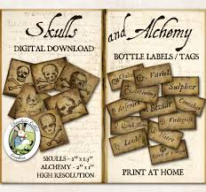 potion bottle labels halloween witch poison apothecary vintage