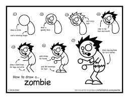 coloring page lovely easy zombie drawing coloring page easy