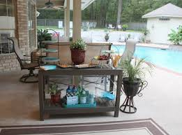 Patio Serving Table Outdoor Buffet Table Using A Side Table