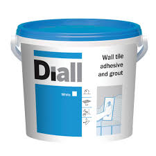 diall ready to use wall tile adhesive u0026 grout white 6 6kg