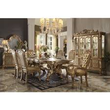 Acme Dining Room Furniture Acme Furniture Dresden Dining Table In Gold Patina And Bone