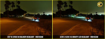 jeep headlights at night kc hilites gravity led 7