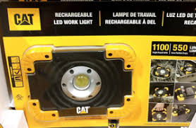 cat 324122 rechargeable led work light cat rechargeable led work light 1100 high lumens for 3 hours water