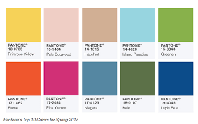 colors spring 2017 pantone releases hot colors for spring 2017 td fall company