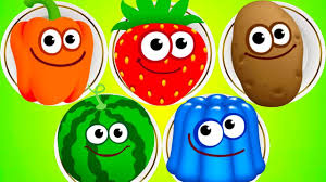 fun baby colors kids games play funny food 2 cute cartoon food