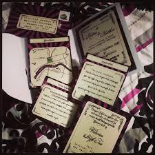the steampunk bride purple steampunk kraken wedding invitations