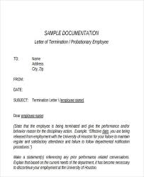 probation termination letter