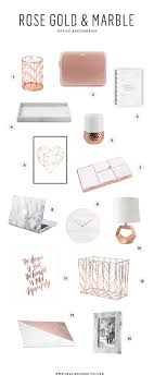 Marble Desk Accessories Beautiful Gold Marble Office Accessories Seaside Creative