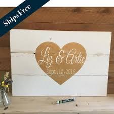 Pallet Wedding Decor Wedding Guest Book Alternative Wedding Decor Signs Rustic