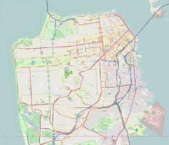 san francisco map excelsior district san francisco