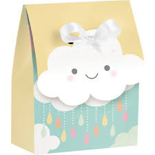 favor bags cloud party mini favor bags with ribbons 12 ct