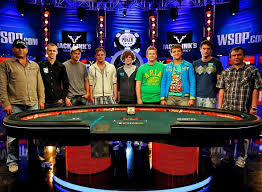wsop final table the nine table set at 2011 world series of poker main event
