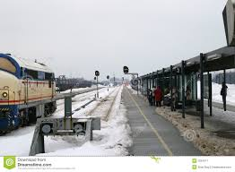 outdoor station in winter stock image image 2024971