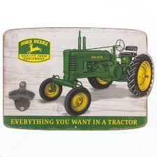 john deere tractors wood bottle opener sign country kitchen
