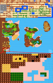 Metroid Nes Map The Architecture Of The Legend Of Zelda Nes Snes Gaming Symmetry