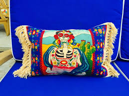 day of the dead pillows frida kahlo mermaid pillow mexican